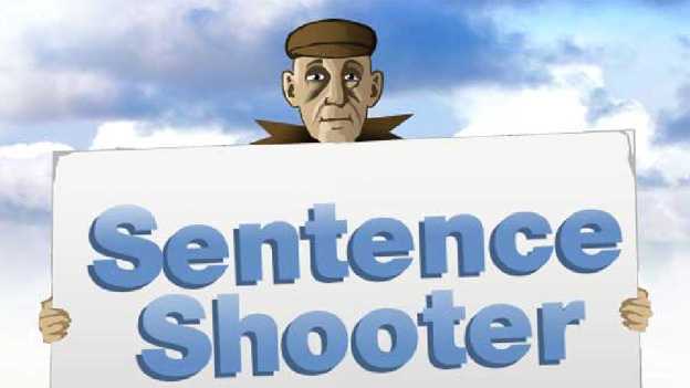 Click to play 'Sentence shooter game'