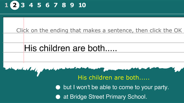 Click to play 'Make a sentence game'