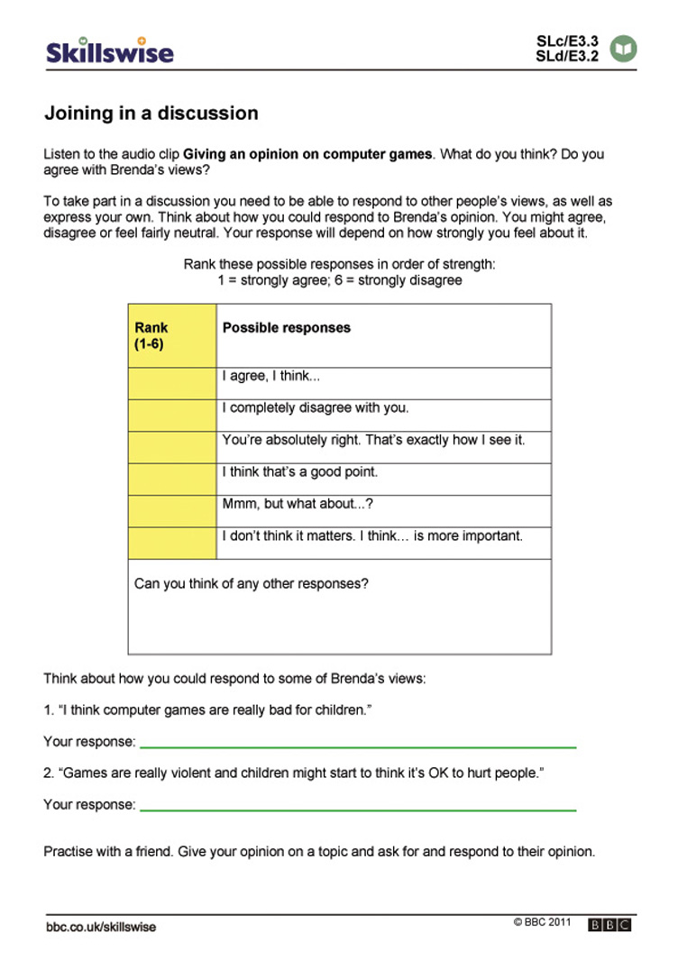 Printables Communication Skills Worksheets