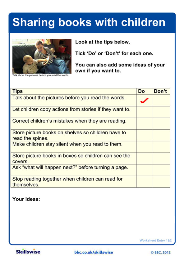 Reading for pleasure worksheet preview