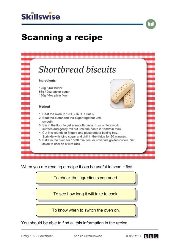 en05skime2fscanningarecipe592x838jpg – Reading a Recipe Worksheet