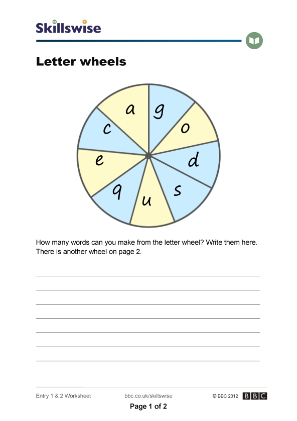 letters wheel With wheel letters