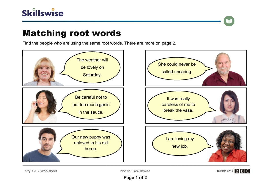 en18roote1e2wmatchingrootwords752x1065jpg – Root Words Worksheet