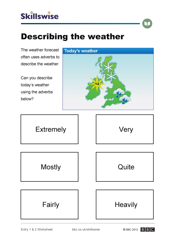 weather worksheet  new 79 describing weather worksheets
