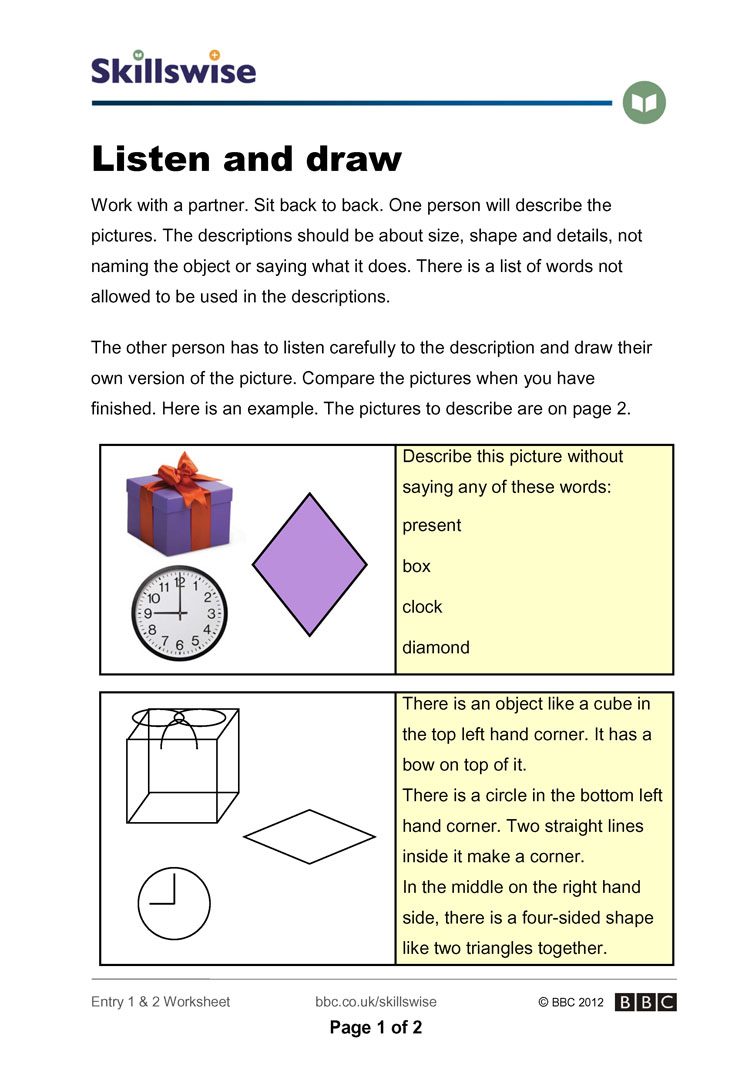 Worksheets Listening Skills Worksheets en34type e1 w listen and draw 752x1065 jpg types of listening