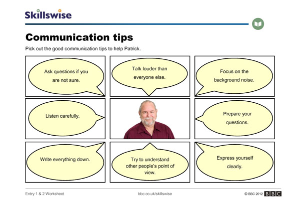 Listening Skills Worksheets Communication Skills Worksheet