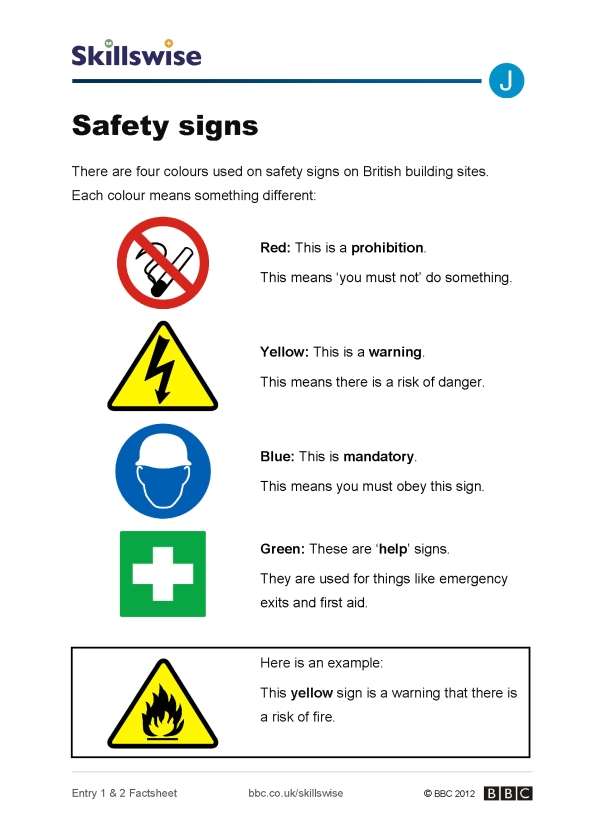 Image of Safety signs factsheet