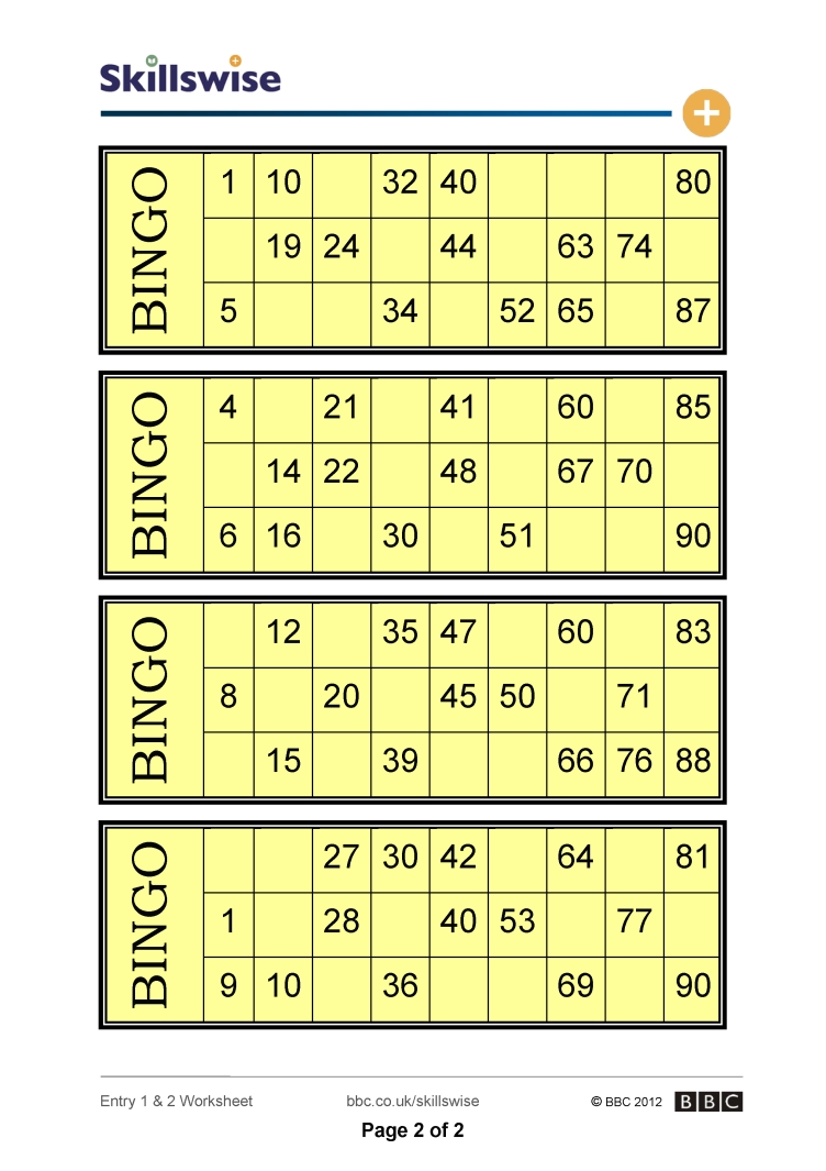 worksheet Bingo Worksheet zeros on bingo cards