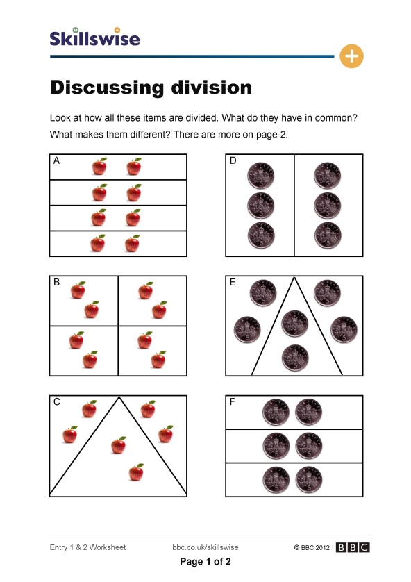 Simple Division With Remainders Worksheets – Beginning Division Worksheets with Pictures