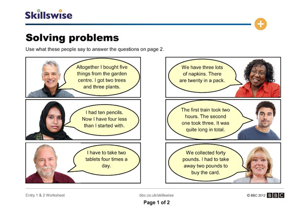Printables Problem Solving Skills Worksheets solving problems