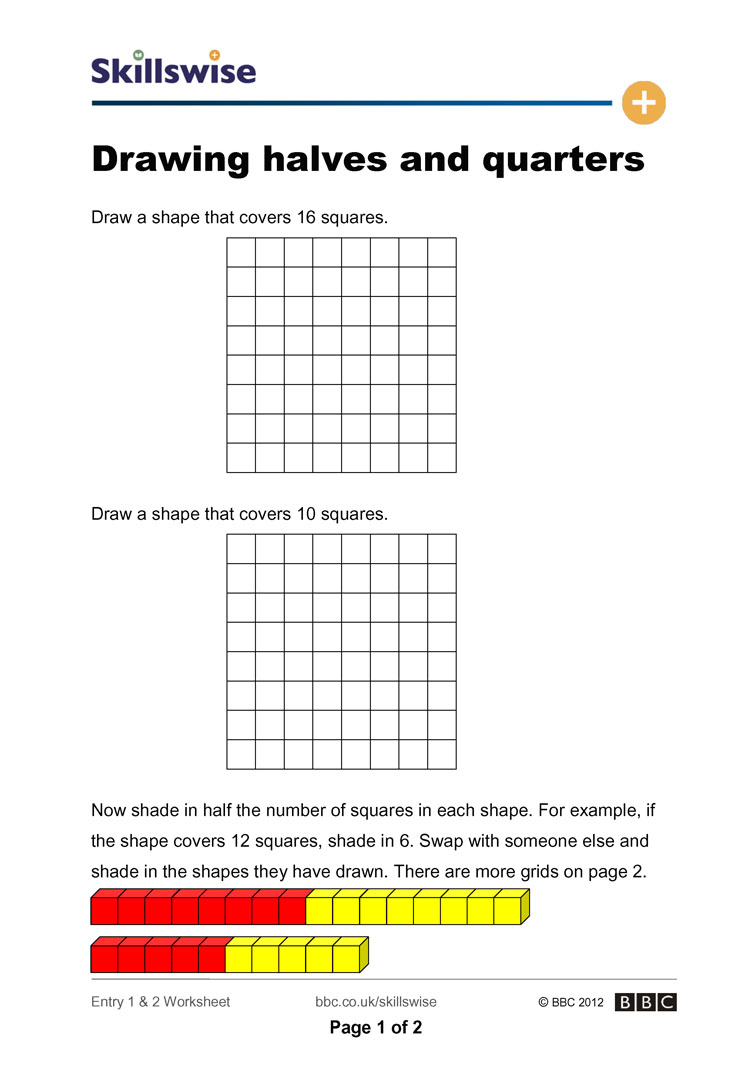 Drawing Halves And Quarters