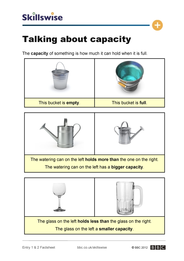 Talking about capacity