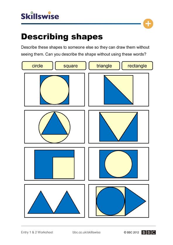 2-D shapes worksheet preview