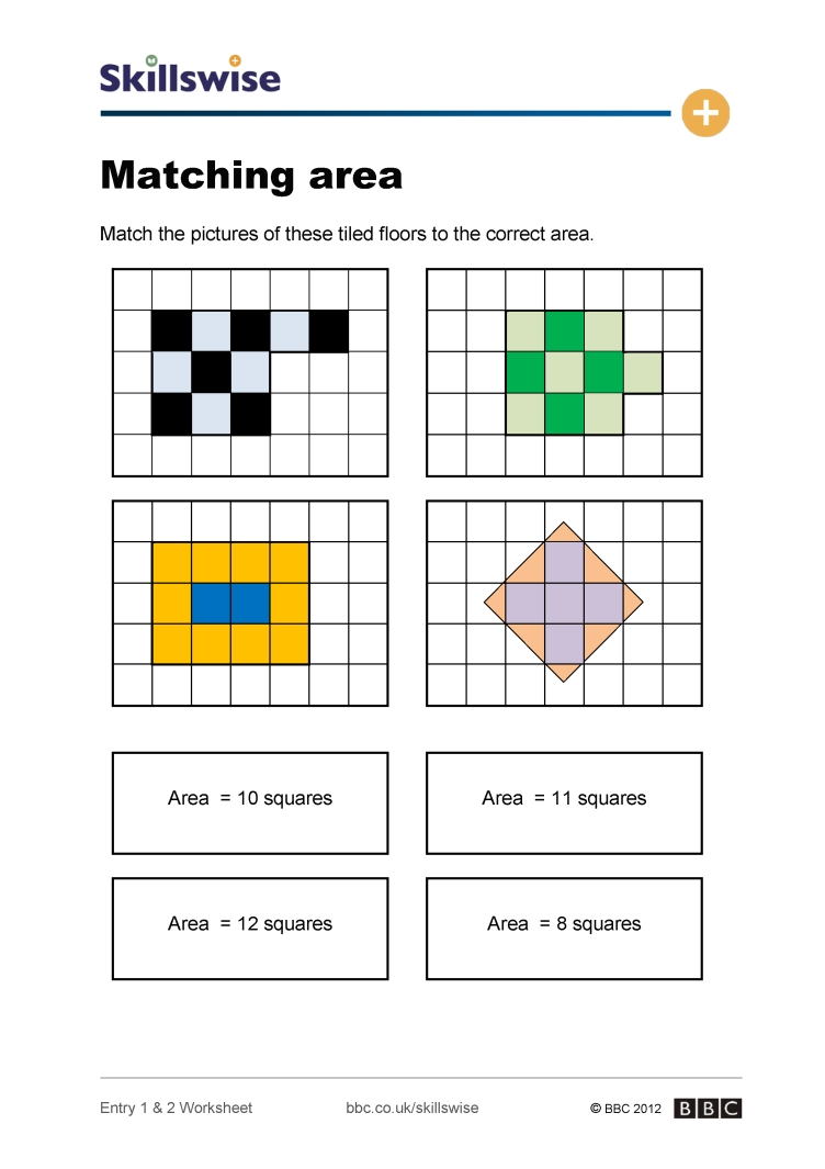 worksheet Area Of Rectangles Worksheet ma30area e2 w matching area 752x1065 jpg areas of shapes