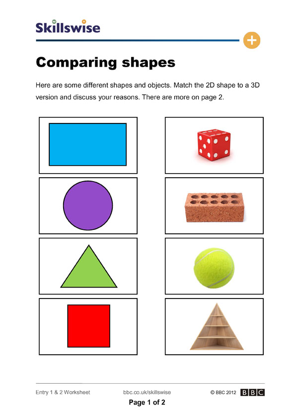 ma343dshe2wcomparingshapes592x838jpg – Matching Shapes Worksheet