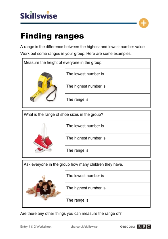 Doing Data: Finding Range #2 | Worksheet | Education.com