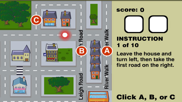 Click to play 'Destination impossible instructions game'