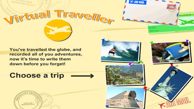Click to play 'The virtual traveller game'