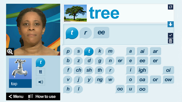 Click to play 'Phonics tool'