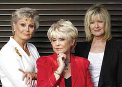 Presenters of Rip Off Britain, Julia Somerville, Angela Rippon and Gloria Hunniford