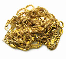 Photograph of gold chains