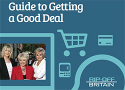 Cover of Rip Off Britain Guide to Getting a Good Deal featuring Julia Somerville, Angela Rippon and Gloria Hunniford
