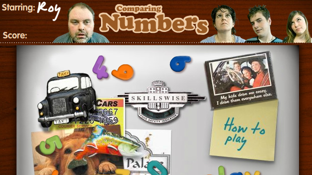 Click to play 'Comparing numbers game'