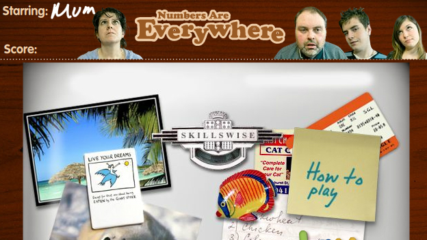 Click to play 'Numbers are everywhere game'