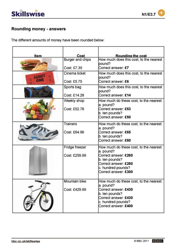 Worksheets Estimating Money Worksheets rounding money and estimating money