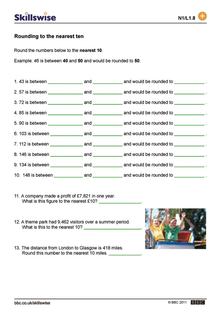 worksheet Rounding To The Nearest Ten And Hundred Worksheet ma06roun l1 w rounding numbers to the nearest ten 752x1065 jpg and estimating ten