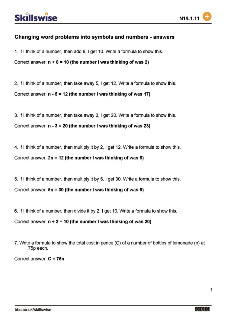 7Th Grade Math Word Problems Worksheets With Answers ...