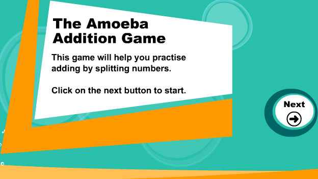Click to play 'Addition by splitting game'