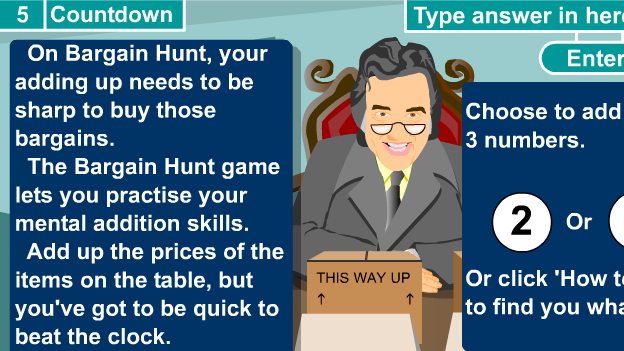 Click to play 'Bargain Hunt adding game'