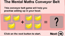 Conveyor belt addition game