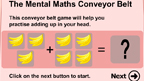 Conveyor belt addition game