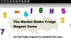 Fridge magnet addition game