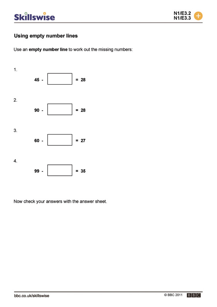 Uncategorized Blank Number Line Worksheets ma09subt e3 w empty number lines 752x1065 jpg subtraction worksheet preview
