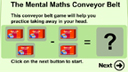 Conveyor belt subtraction game