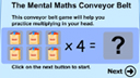 Conveyor belt multiplication game