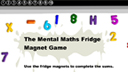 Fridge magnet multiplication game