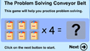 Problem solving with multiplication game