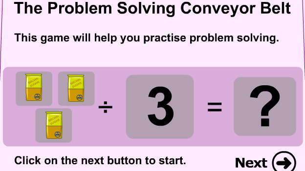 Click to play 'Problem solving with division game'