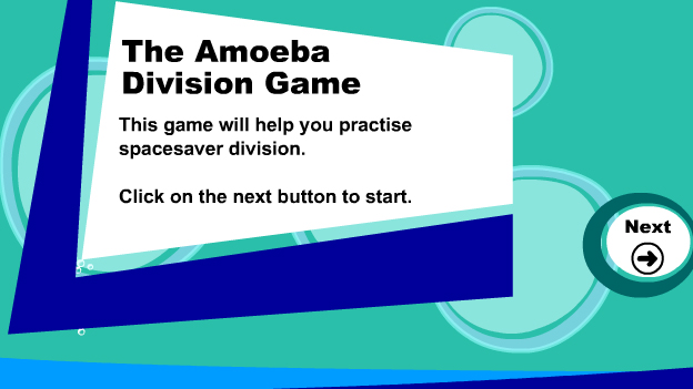 Click to play 'Written division game'