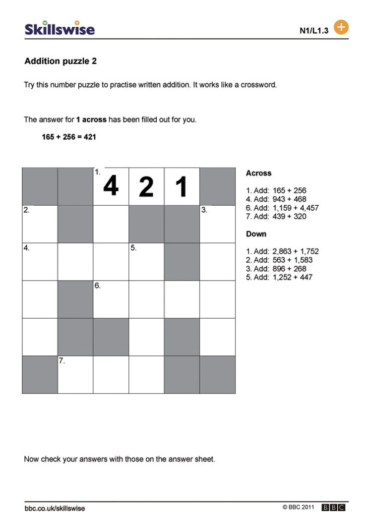 {Puzzle Worksheets Versaldobip – Addition Puzzle Worksheets