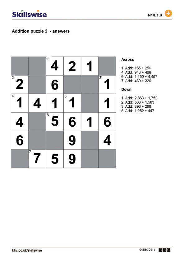 Addition Puzzle 2