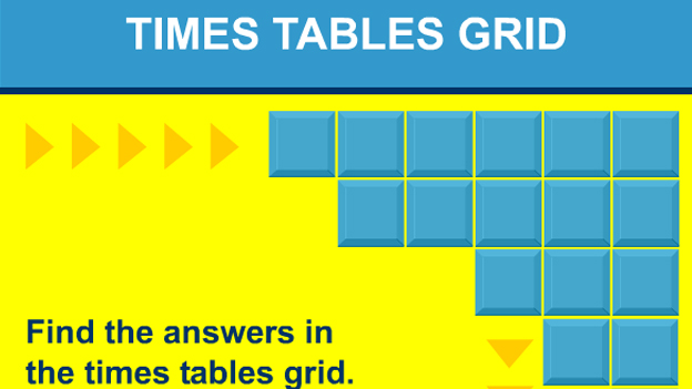 Times tables grid game – Math Times Tables Worksheet