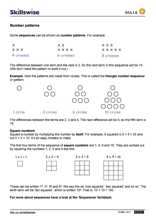 Counting & Number Patterns Printables, Worksheets, Pages to Print