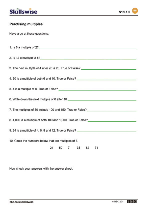 Printable Worksheets multiples of 10 worksheets : ma14fact-l1-w-multiples-592x838.jpg