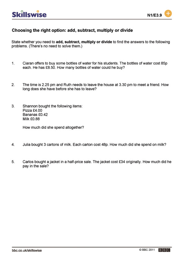 choosing the right option add subtract multiply or divide - Adding Subtracting Multiplying And Dividing Fractions Worksheet