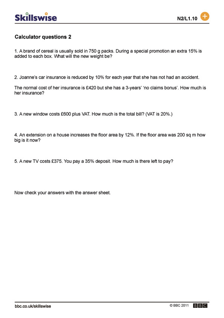worksheet Why Questions Worksheet ma16perc l1 w more calculator questions 752x1065 jpg percentages worksheet preview